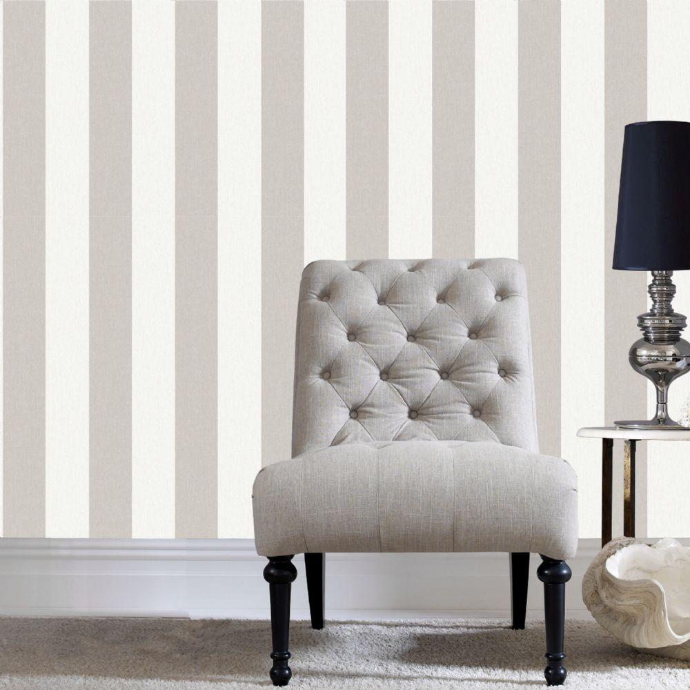 Graham and Brown Calico Stripe Natural 32-678 Wallpaper